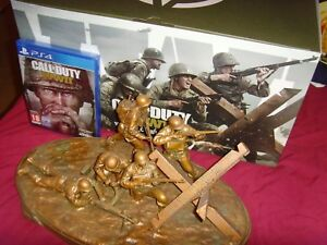Call of Duty WWII Valor Collection PS4 Game and Statue Only