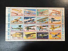 1972 EQUATORIAL GUINEA VINTAGE AIRPLANES - SOUVENIR SHEET OF 16 STAMPS