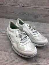 Sano By Mephisto Tennis Shoes White Metallic Size 7.5 Women's ( 1568 )
