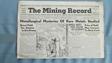 1945 Mining Record-Rare Metals Study-Wyoming Jade-Cripple Creek Stratton Mines
