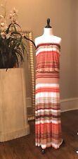 Young Fabulous and Broke 'Sydney' Striped Maxi Dress Orange Cabana - XS