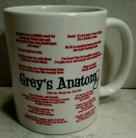 11oz mug Grey's Anatomy Quotes - Printed Ceramic Coffee Tea Cup Gift NEW no box