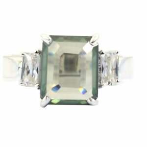 3 Ct Emerald Aquamarine Gemstone Engagement Ring,Unisex, Wedding Valentine Gift