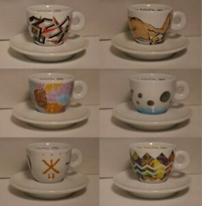 illy cappuccino cups 1992 - set of 6