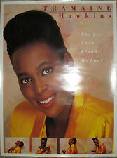 Tramaine Hawkins Joy Floods My Soul promotional poster, 1988, 18x24, Ex, gospel