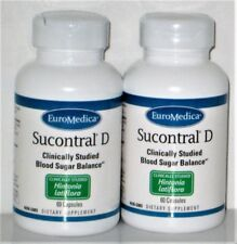 (2)  SUCONTRAL-D 60cap,EUROMEDICA, BLOOD SUGAR BALANCE, FREE BOOKLET ON D!ABETES