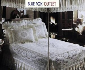 Lace Bed Canopy Twin White Victorian Rose Cotton Blend Factory Mistake