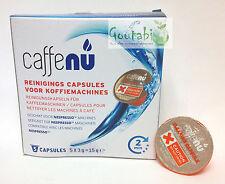 Caffenu - Caspules Nettoyante pour machines Nespresso - Lot de 5