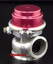 60MM 10 PSI External Wastegate V Band Turbo Stainless Steel Dump Valve Red