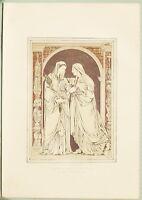 Grande 1862 Exhibition Stampa Incised Marmo Mosaico Da Barone De Triqueti Paris
