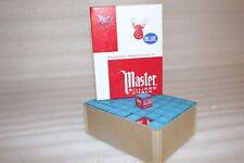 Master BLUE Pool Billiard Cue Q Stick Chalk Doz. Box 12-Pack 1 Dozen 12 ct.