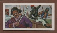 Frenchman l'Olonnais Considered Most Ruthless Pirate Vintage Ad Trade Card
