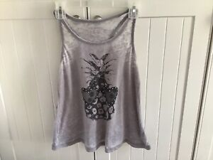 Xhilaration Girl's Gray Sparkly Tank Top Size 7-8