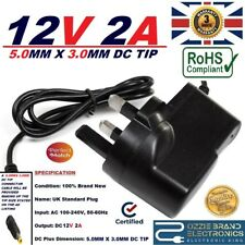 UK 12V 2A AC/DC POWER SUPPLY ADAPTER COMPATIBLE FOR CASIO AD-A12150LW KEYBOARD