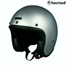 Hedon Hedonist Open Face Motorcycle Motorbike Scooter Crash Helmet - Zinc