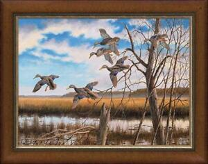 David A Maass Pride of the East Black Ducks Premier Giclee Canvas Ltd Edition