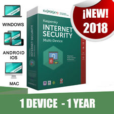 Kaspersky Internet Security Multi device 2018 1 Pc user 1 year Original