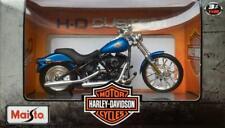Maisto - Harley Davidson 2002 FXSTB NIGHT TRAIN (Blue) Model Scale 1:18
