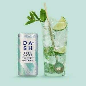 DASH Soda Water with Limes & Garden Mint