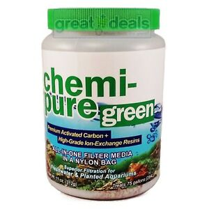 Boyd Chemi-Pure Green 11 oz Carbon / Resin Filter Media Freshwater Planted 0001