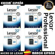 TARJETA MEMORIA LEXAR MICROSD MICRO SD CLASE 10 8 16 32 64 8GB 16GB 32GB 64GB