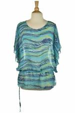 Apt. 9 Women Tops Blouses 1X Teal Polyester