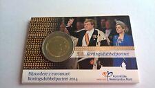 Nederland 2014 Coincard 2 Euro Koningsdubbelportret UNC met boekje