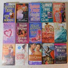 Mixed lot of 15 Historical Romance pb books SHANNON DRAKE Meagan McKinney WIGGS