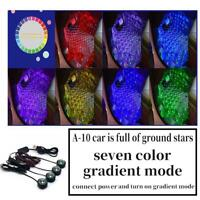 4xCar Foot Atmosphere Lamp Interior Ambient Star Lights LED Projector Starry Sky