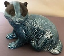 POOLE POTTERY BLUE BADGER FACING LEFT shape 737 - 4 inches high 5 inches wide