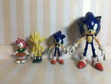 Sonic the hedgehog Lot Of (4) Sonic Silver Amy Rose PVC Figure Rare Jazwares