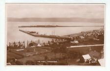 The Piers & Houses Stranraer 1922 Real Photopgraph Valentines 86135 Old Postcard