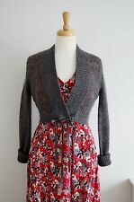 vintage style cardigan GREY mohair topshop knit 1930's 40's 50's summer 12