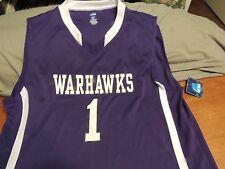 UNIVERSITY of LOUISIANA MONROE WARHAWKS #1 Basketball Jersey Adult XL New Tags