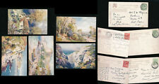 ISLE of WIGHT TUCKS OILETTE 7586 VENTNOR...ARTIST WIMBUSH POSTALLY USED 5 DIFF