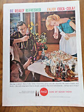 1959 Coke Coca-Cola Soda Ad Having a Party?