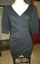 WOMENS Sz S black 3/4 sleeve stretchy mini dress LOVELY!