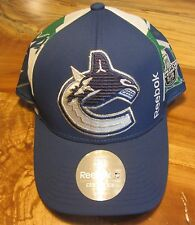NHL Vancouver Canucks 2015 Stanley Cup Mens Cap, Reebok Center Ice, Snap Back