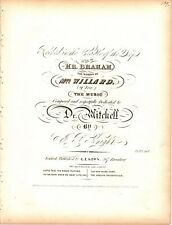 Rocked In The Cradle Of The Deep - Emma Willard, 1840  antique sheet music