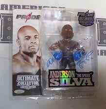 Anderson Silva Signed Pride FC Round 5 Action Figure PSA/DNA COA UFC LE 500 Auto