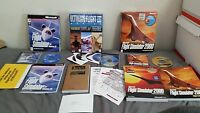 Lot of 3 Microsoft Flight Stimulator Windows 95 2000 Ultimate Fligh 3 PC Big Box