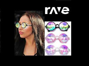 Kaleidoscope Glasses Rave Sunglasses Festival Diffracted Rainbow Trippy Drug EDM