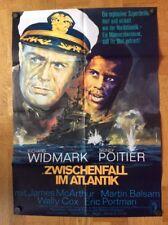 Zwischenfall im Atlantik (Kinoplakat ´66) - Richard Widmark / Sidney Poitier