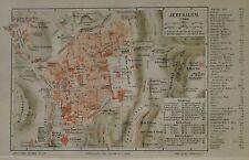 1890 ANTICA.STAMPA GEO-TOPOGRAFICA= JERUSALEM = Tav.#2