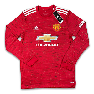 Adidas Manchester United Home Long Sleeve Jersey Men's Size XL FM4290 2020-2021