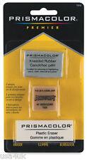 Prismacolor Eraser Multi-Pack 3 Unique Erasers Kneaded Rubber, Artgum, Plastic