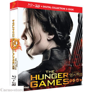 The Hunger Games ( Blu-ray ) 1, 2, 3, 4(3D) / 5 Disc Collection / Region ALL