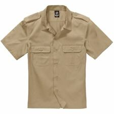 Brandit Combat Military Army Style Short Sleeve Durable Work Shirt Beige