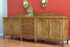 Antique Vintage  French Louis XV Sideboard Buffet Cabinet TV Stand  in Oak