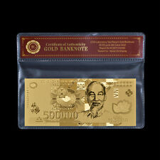 WR Vietnam 500,000 Dong Uncirculated Banknote Gold New 500000 Vietnamese /w COA